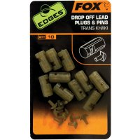 Fox Edges Drop Off Lead Plugs & Pins Trans Khaki 10ks