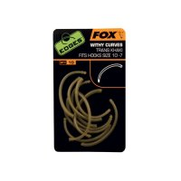 Fox Edges Rovnátka Withy Curve Adaptor Trans Khaki Hook Size 10 - 7 10ks